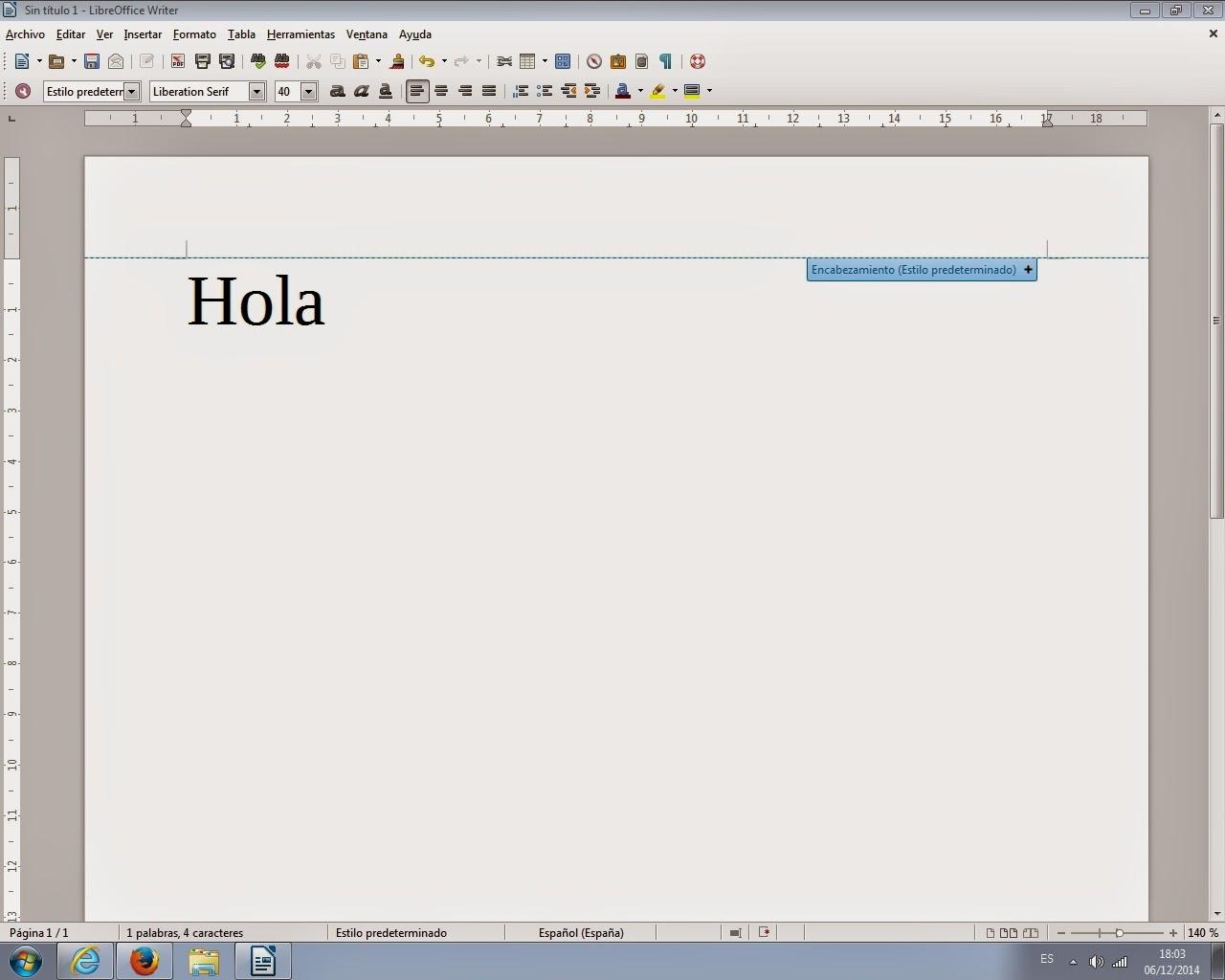 Curso de aplicaciones ofimaticas. Writer. procesador de texto.