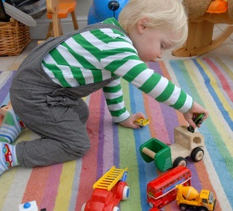 Two year old child playing
