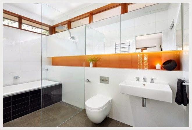 Desain kamar Mandi Minimalis Berkonsep Moderen