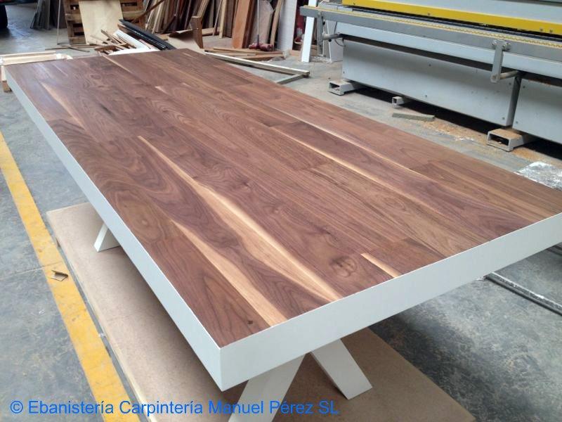 Ebanisteria carpinteria manuel perez zaragoza muebles en stock - Mesa madera diseno ...
