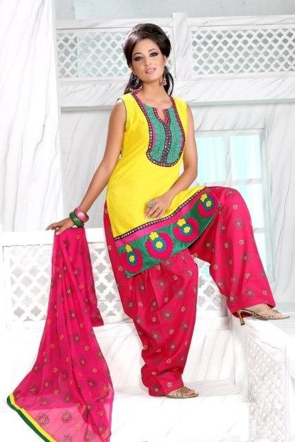 Yellow-Patiala-Wear-Designs