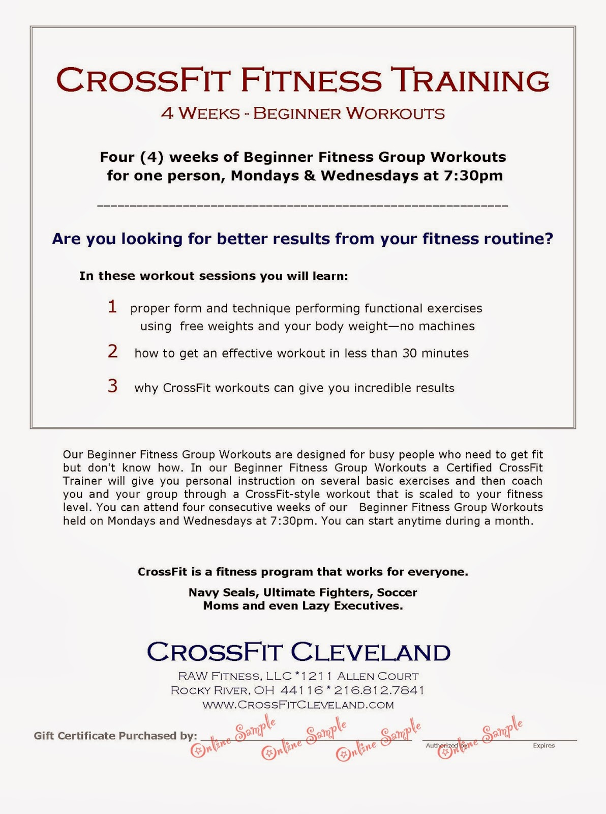 Crossfit Cleveland 2014
