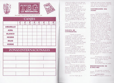 manual del teg Canjes