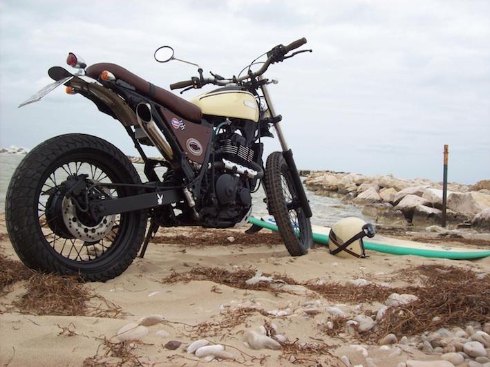 Suzuki Scrambler- Suzuki DR650 turned into a vintage Scrambler,