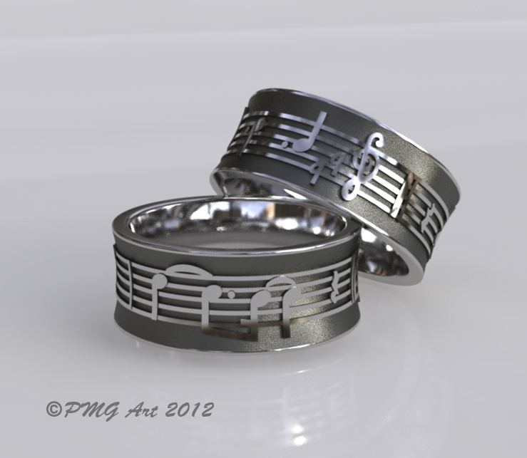 Music Note Ring Notes Rings Wedding