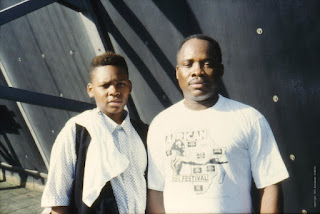 Ndombe Opetum with his son (Delft, 1991-08-03)