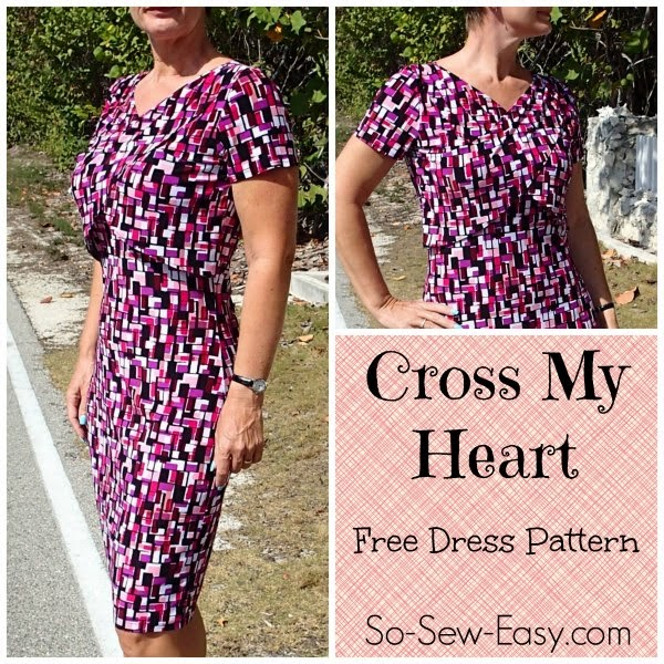 Comfortable shrug dress sewing pattern