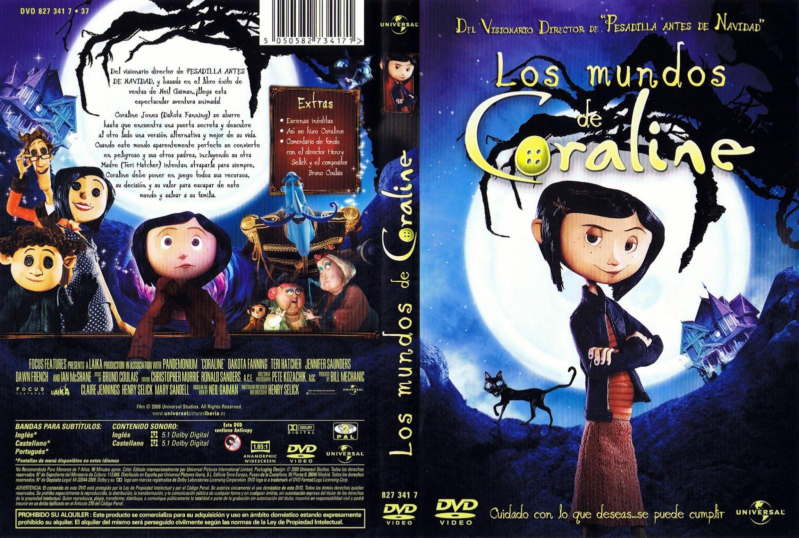 Los Mundos De Coraline DVD