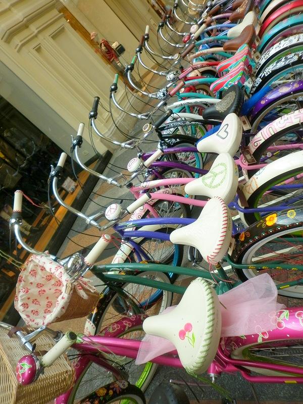 розовый гламурный велосипед