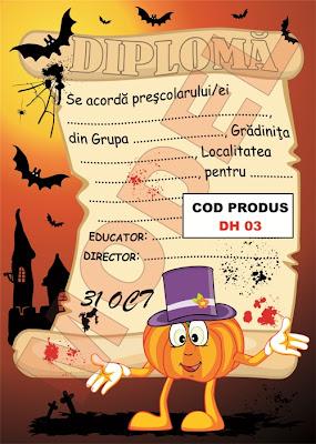 Diplome Pentru Copii De Halloween     Modele Diploma Pentru