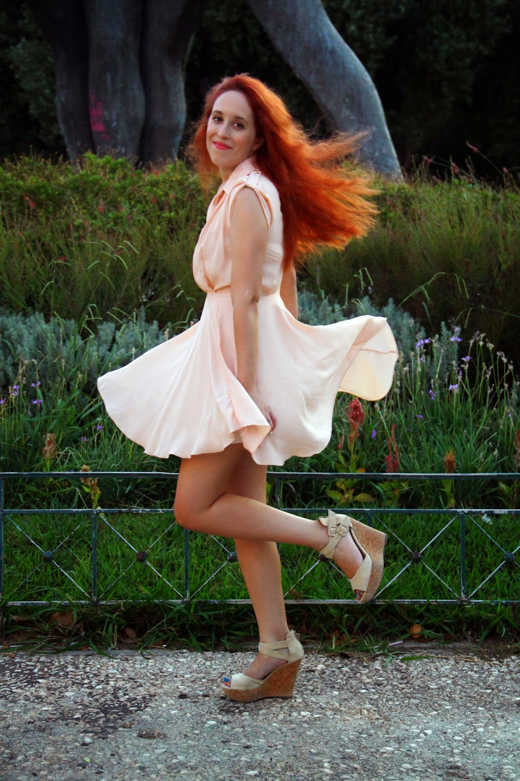 Anna ,Keni,redhead, spotlights on the redhead,fashion,model,blogger, OASAP,  review, dress, high heels, sexy, pink, summer, autumn, fall