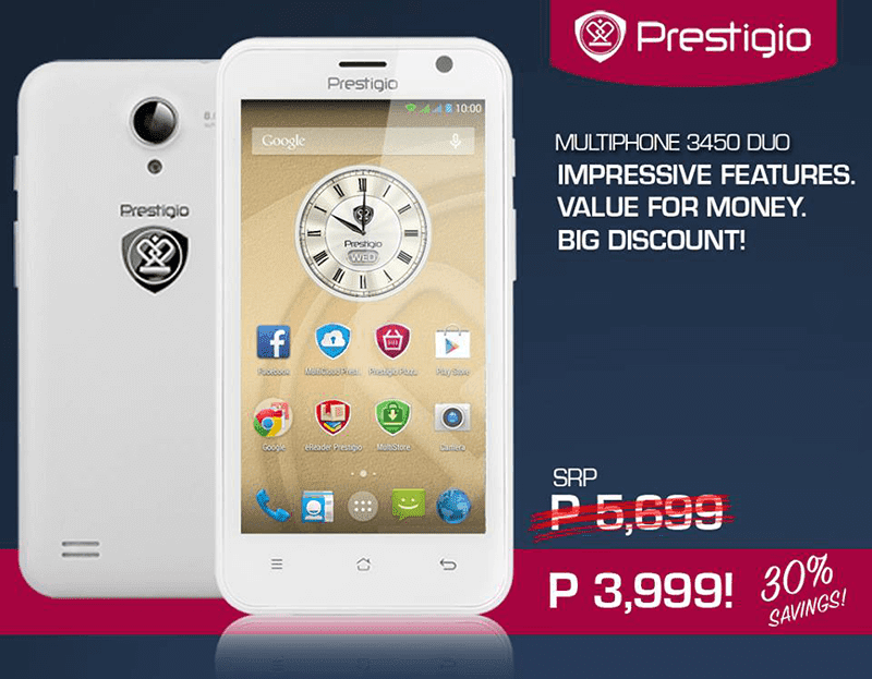 PRESTIGIO MULTIPHONE 3450 DUO GETS A SWEET PRICE CUT, NOW DOWN TO 3,999 PESOS!
