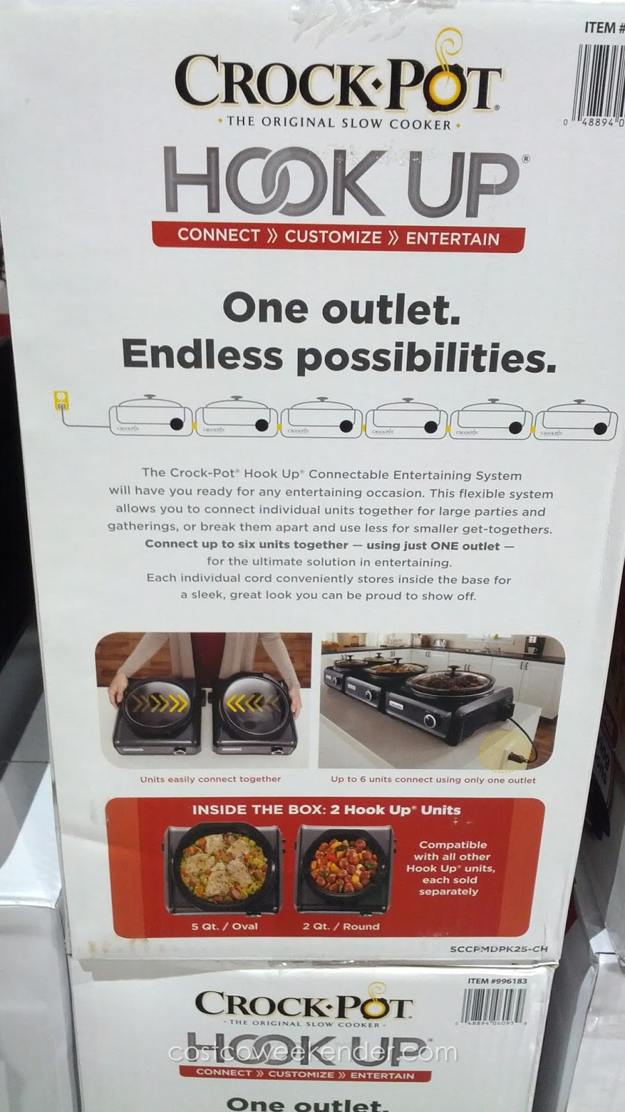 Crock Pot Hook Up Connectable Entertaining System Both Cooks And Warms
