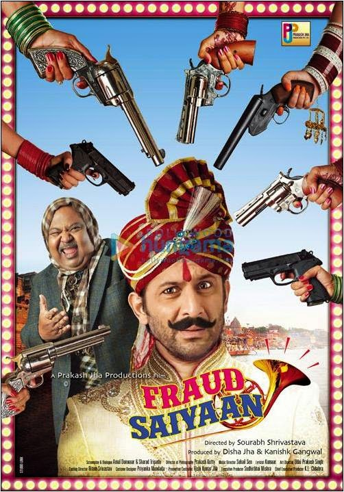 Guns of 13 wives targeting Arshad Warsi in Fraud Saiyyan movie poster
