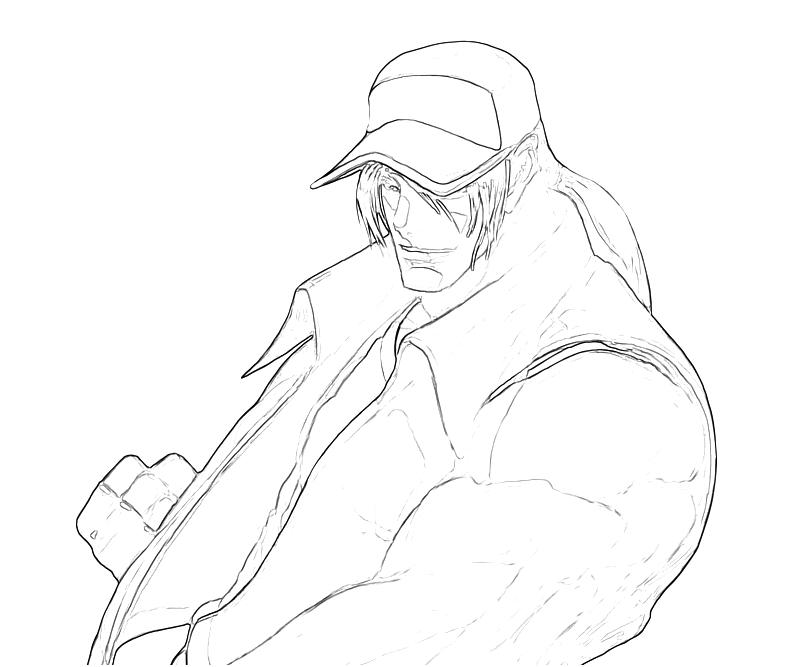 printable-king-of-fighters-terry-bogard-strength-coloring-pages