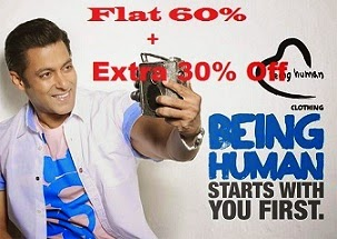 (Expired) Flat 60% Off + Extra 30% Off on Being Human Clothing @ Myntra