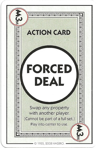 Monopoly deal review board game reviews by josh forced deal card in monopoly deal bookmarktalkfo Choice Image