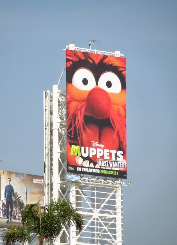 Disney Muppets Most Wanted movie billboard