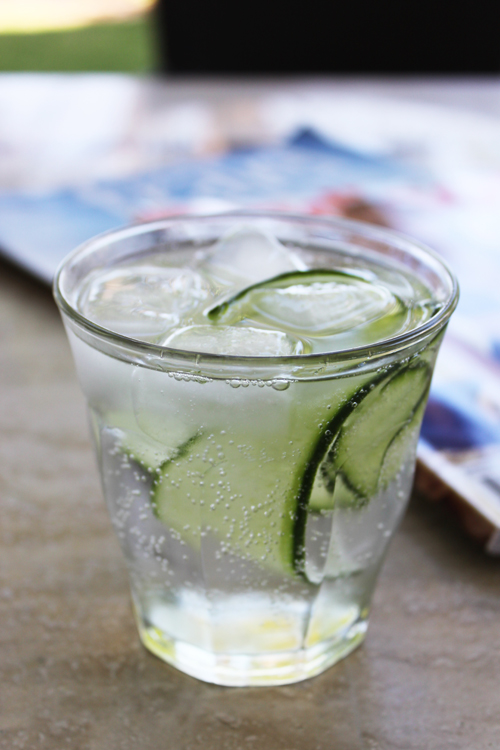 Cucumber and elderflower gin cocktail for Mixed drinks using gin