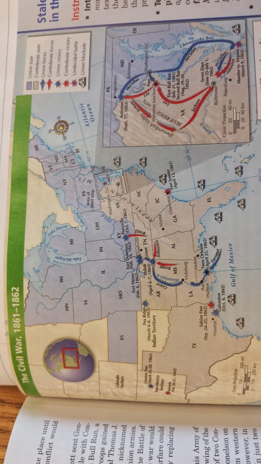 civil war map assignment
