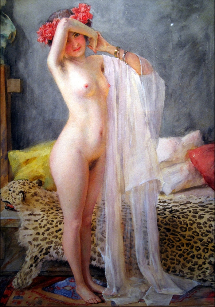 Robert Auer 1873-1952 | Croatian Art Nouveau painter | Nude painting