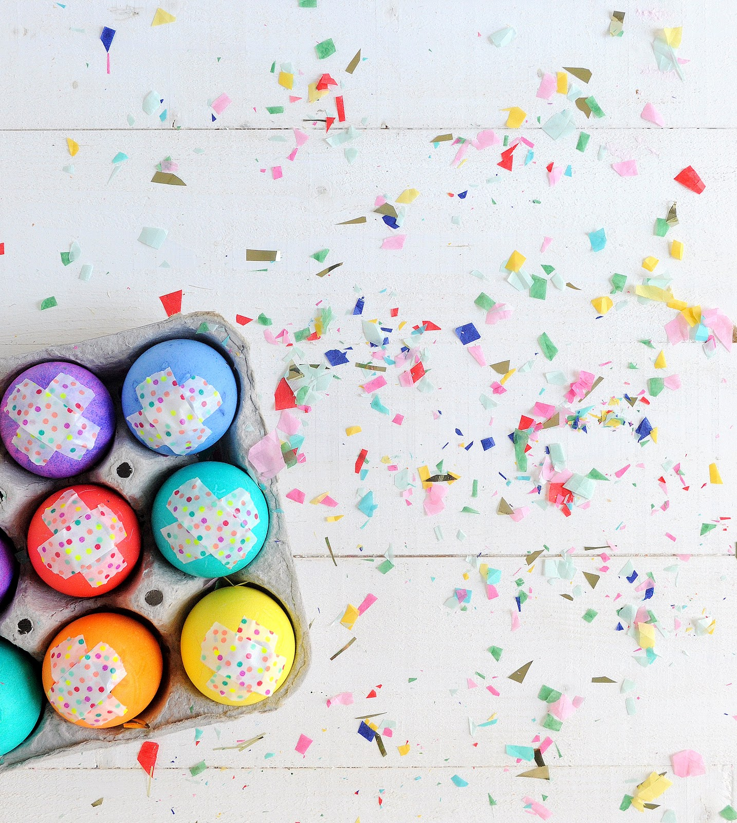 diy cascarones // confetti filled easter eggs