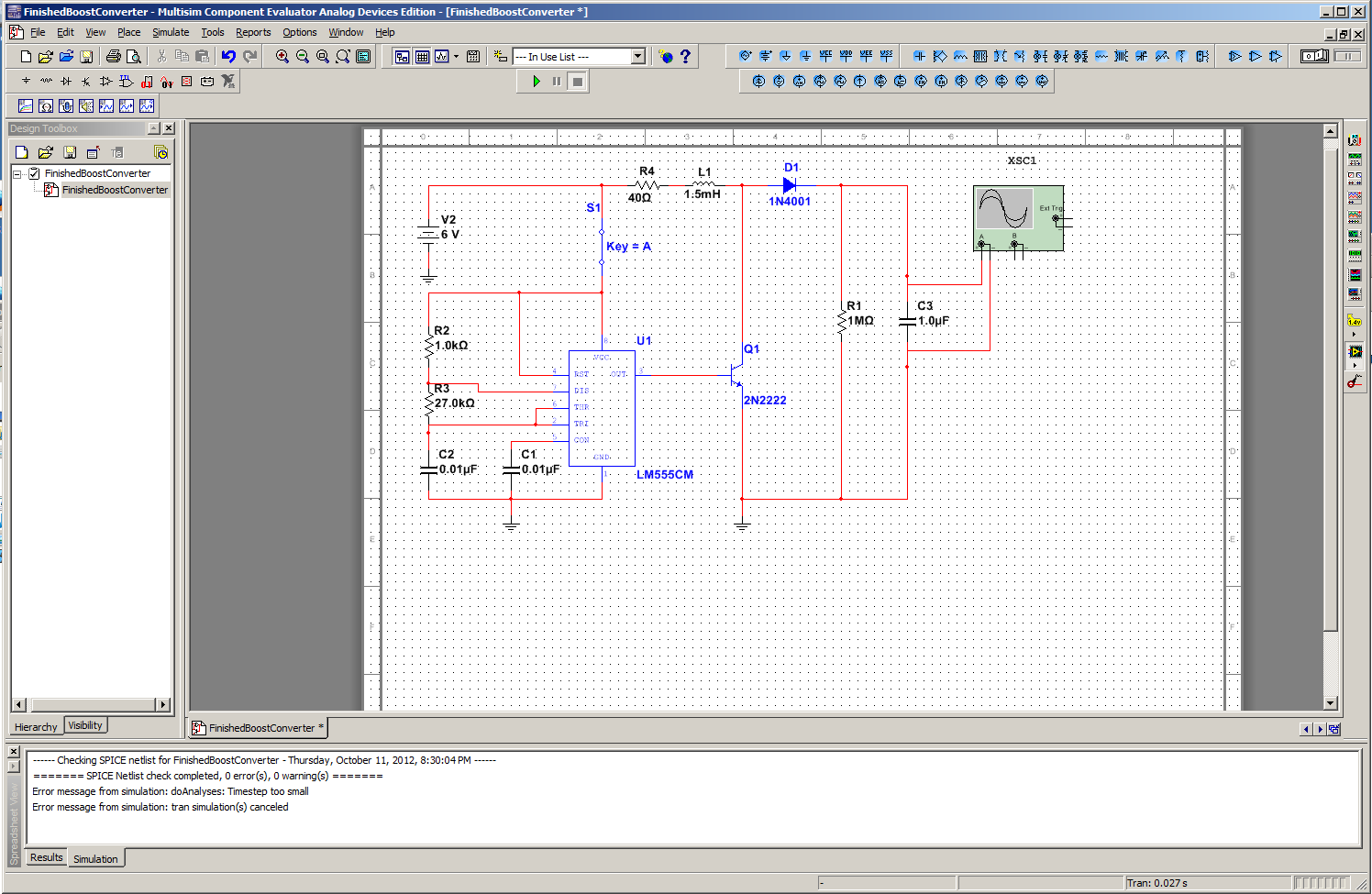 Garretts Blog Designing A Boost Converter Your Own Multisim Like Circuit Design And Simulation Application Finished In