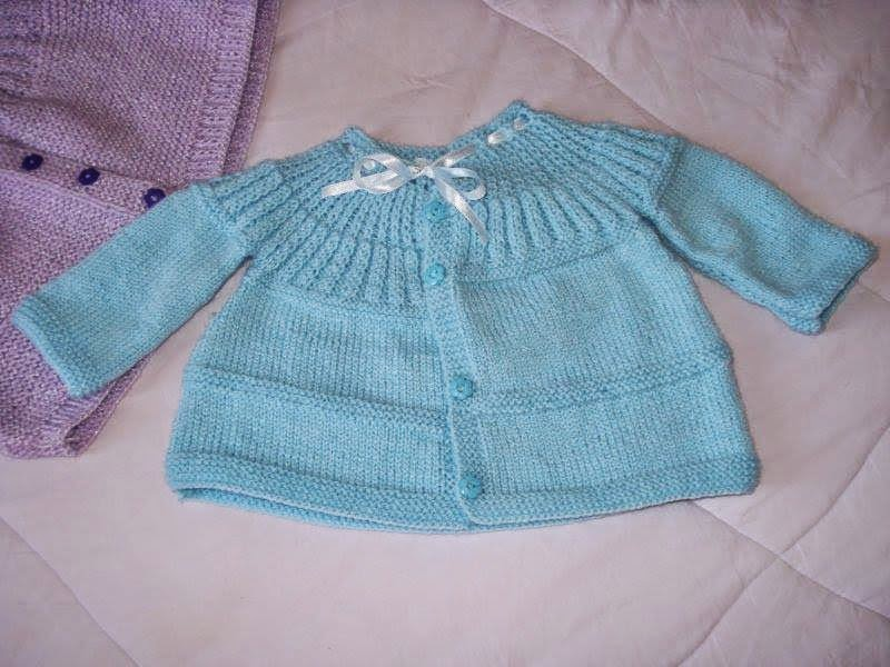 Famosos Casaquinho Bebê Tricô Super Fácil ~ A Tricoteirinha YF53