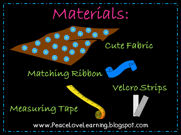 Peace Love & Learning - How to make a Table Skirt