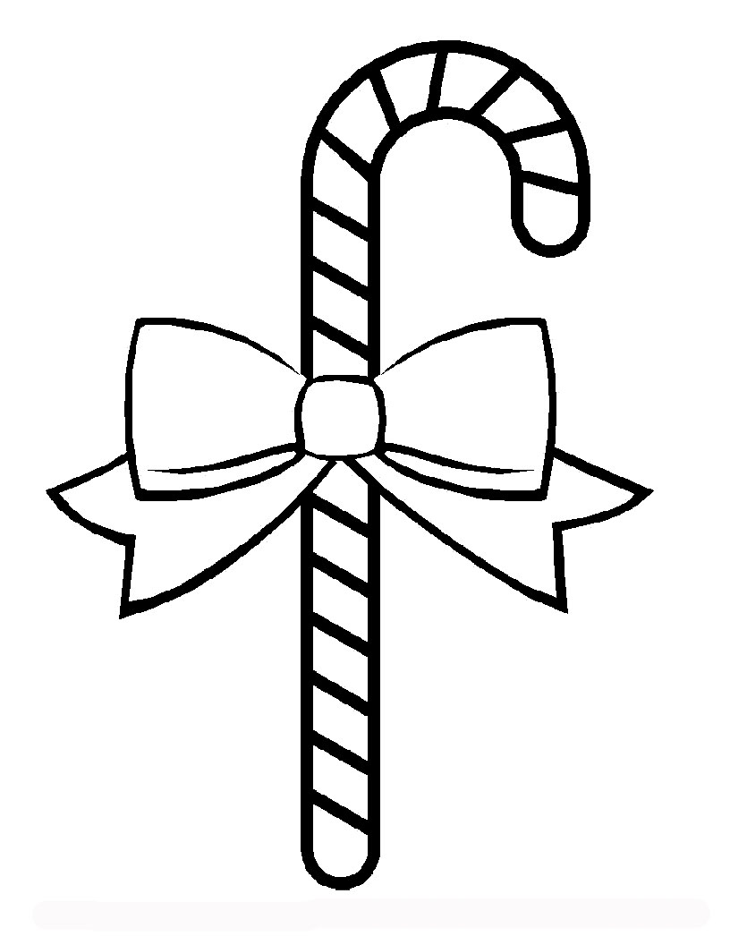 Christmas Candy Canes Coloring