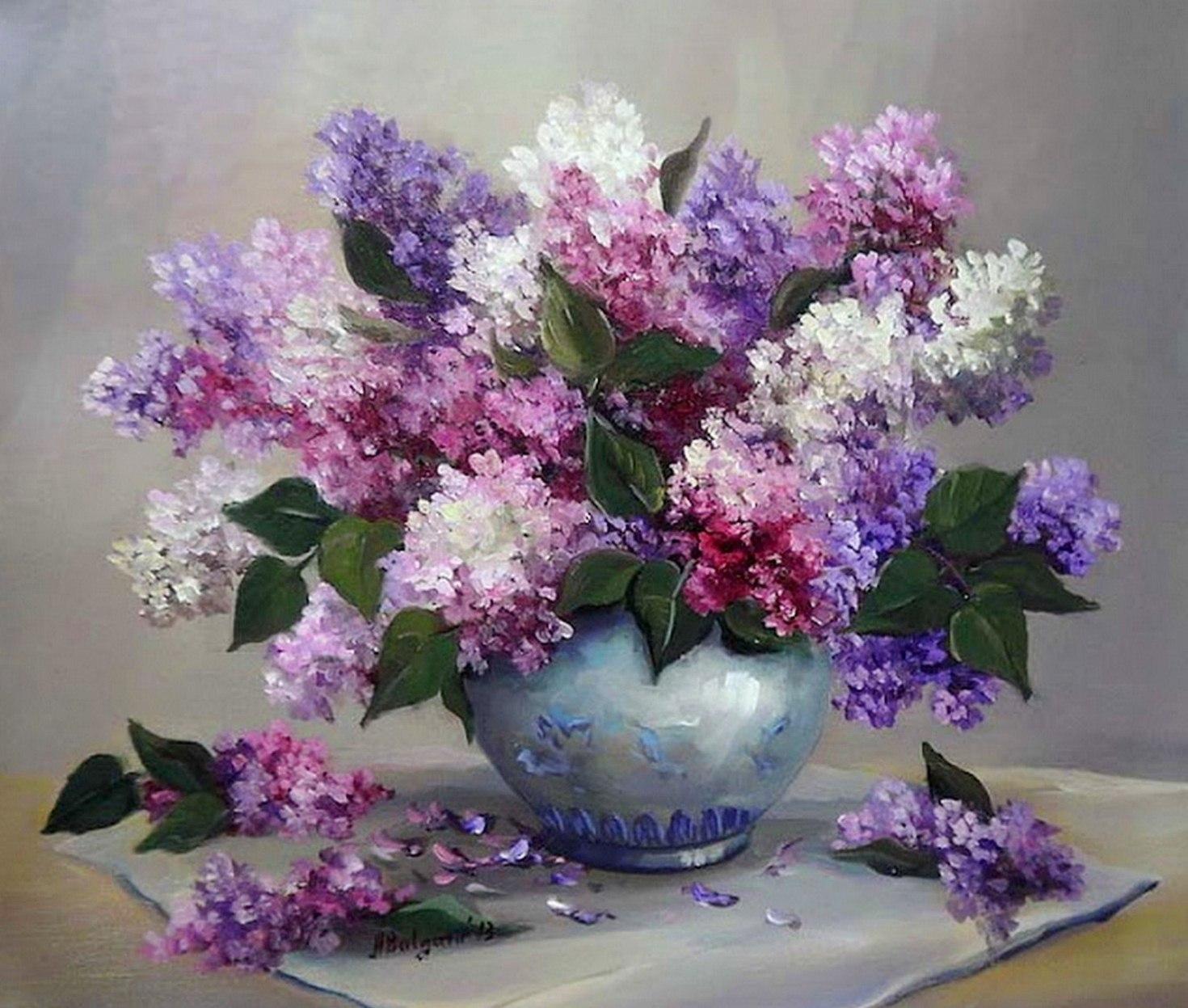 Cuadros pinturas oleos pinturas de jarrones de flores - Jarrones de cristal con flores ...