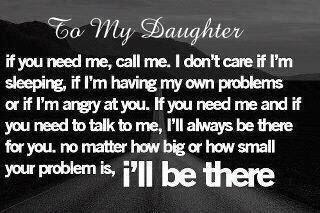life inspiration quotes my promise to my daughter