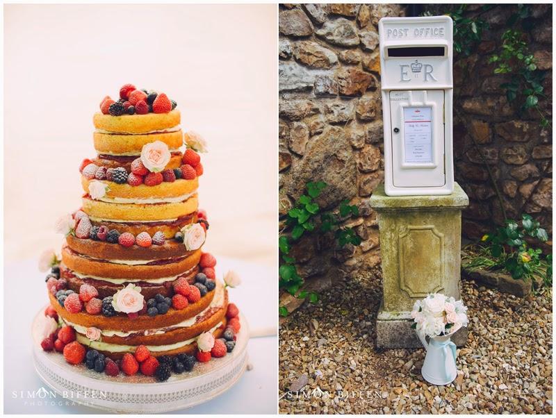 Wedding cake and post box