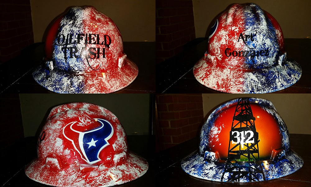 Houston, TX Oilfield Trash  hard hat. Support your Texans while on the job
