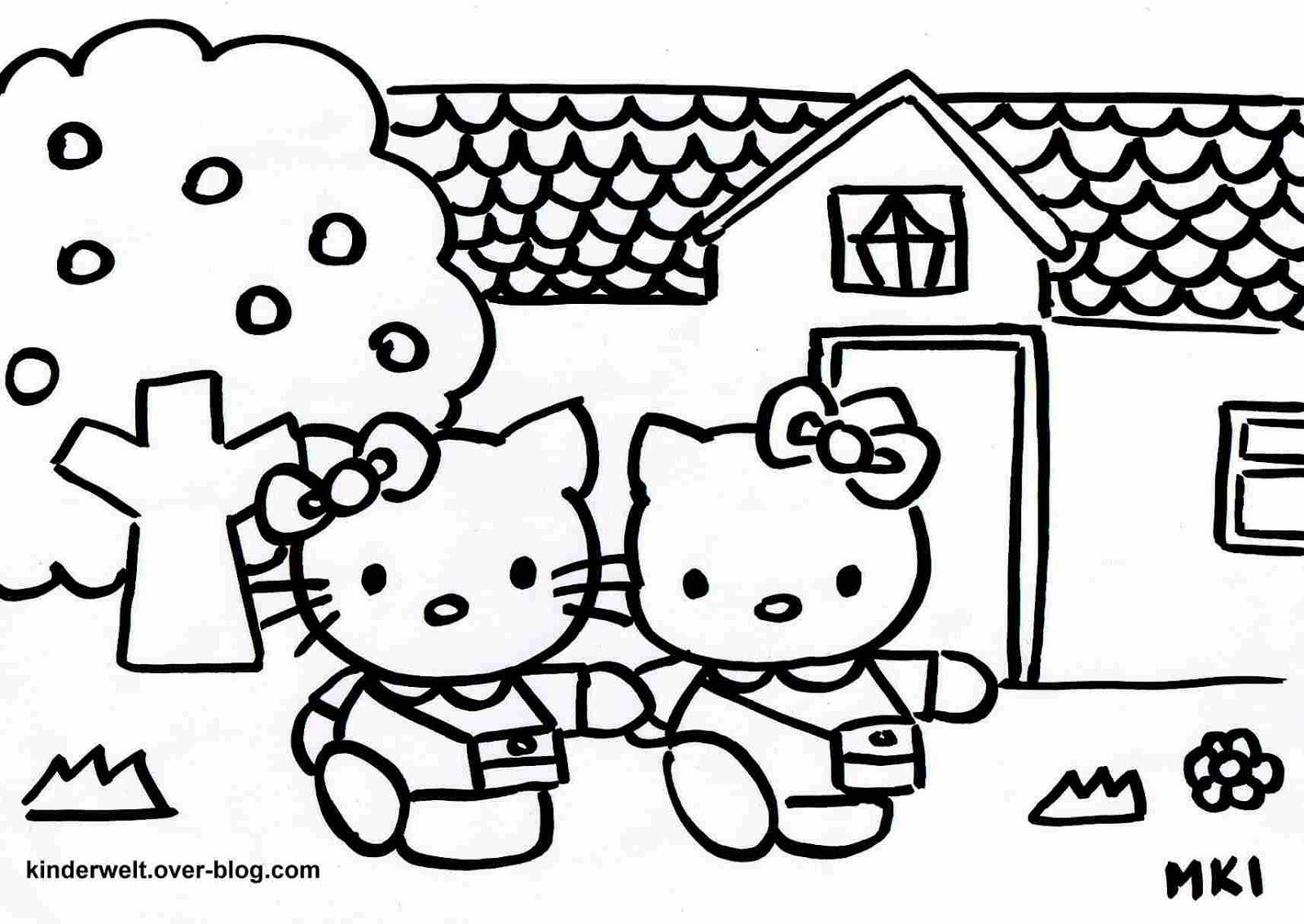 Ausmalbilder Deutschland Hello Kitty Ausmalbilder