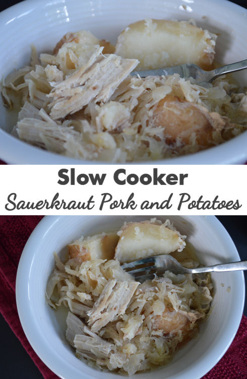 Slow Cooker Sauerkraut Pork and Potatoes | seriously-lovely.blogspot.com