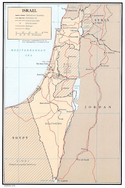 Mapa político de Israel