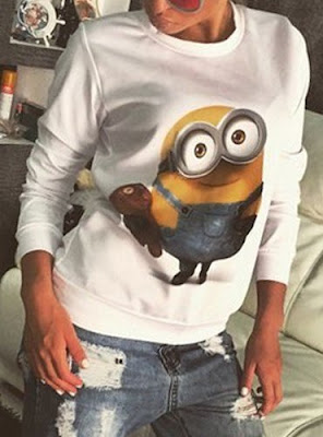 felpa minions felpe autunno inverno 2015 2016 mariafelicia magno fashion blogger colorblock by felym shopping on line sammydress minions sweatshirt