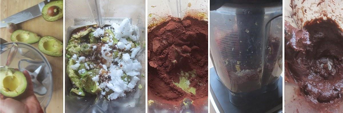 Zubereitung Avocado-Schokoladen-Mousse, vegan