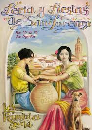 Cartel de la Feria y Fiestas de San Lorenzo de La Rambla 2014