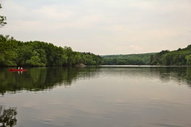 a tranquil, at the moment, St. Croix River