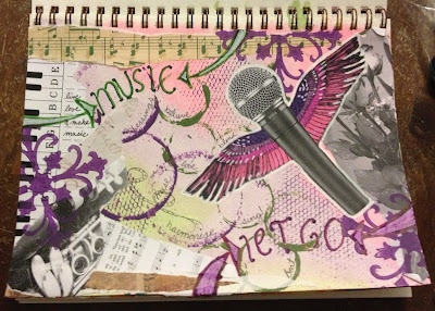 Music art journal page