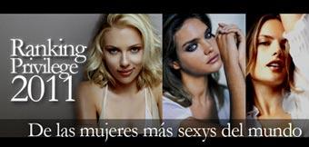 Ranking Las Mujeres Mas Sexys 2011