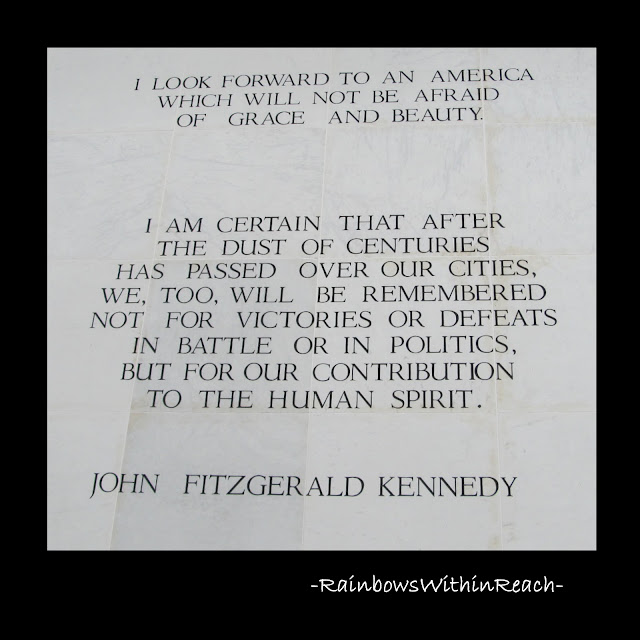 photo of: JFK quote on the Arts