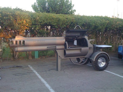 BBQ pistol working stove weapons art