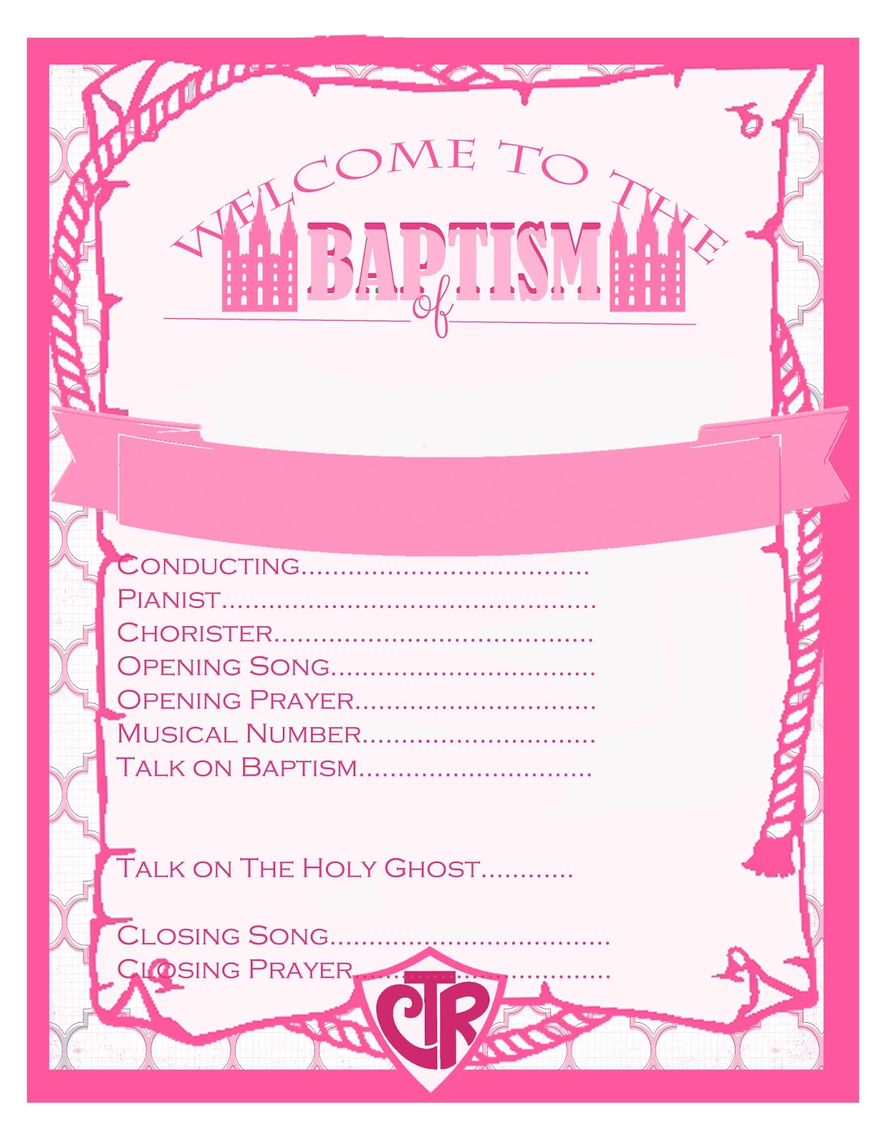 I Do On A Dime: LDS Baptism Party