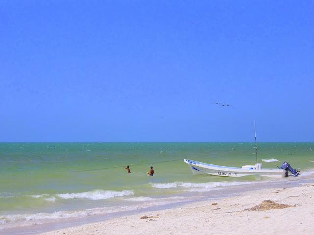 Praia banhada pelo Golfo do Mexico