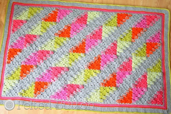 Felted Button Colorful Crochet Patterns Puzzle Patch Blanket