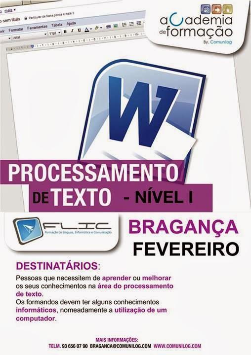 curso de Word em Bragança