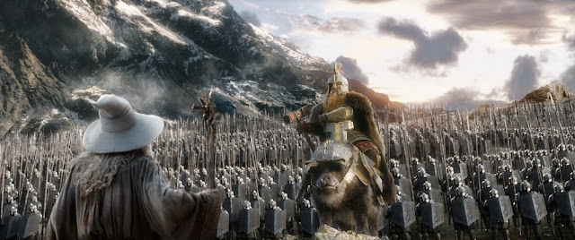 Dain pig boar army hobbit 3 battle of five armies movie still
